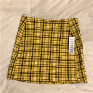 brand new never worn urban outfitters plaid skirt